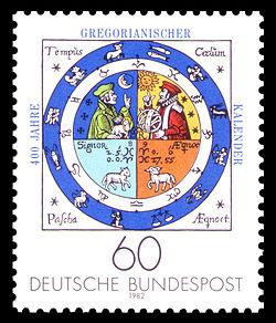 DBP_1982_1155_400_Jahre_Gregorianischer_Kalender